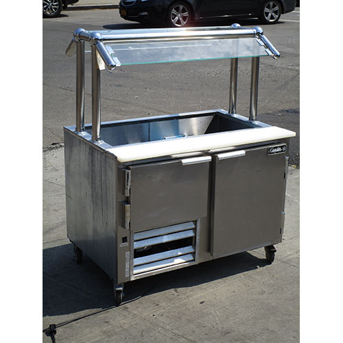 Leader Sandwich Prep Table Cooler Lm Sneezeguard Very Good Condition Product Photo