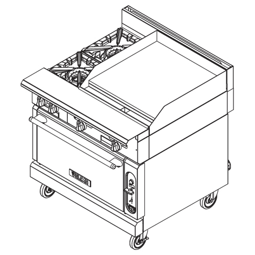Vulcan-Heavy-Duty-Gas-Range-Burners-Manual-Griddle-Modular-Frame Product Image 94