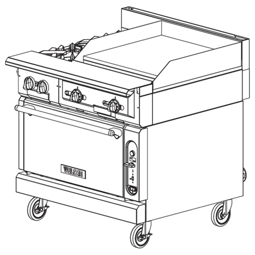 Vulcan-Heavy-Duty-Gas-Range-Burners-Stat-Griddle-Modular-Frame Product Image 427
