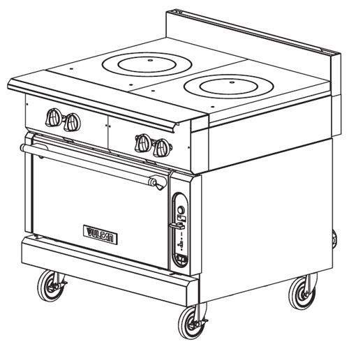 Vulcan-Heavy-Duty-Gas-Range-French-Tops-Modular-Frame Product Image 395