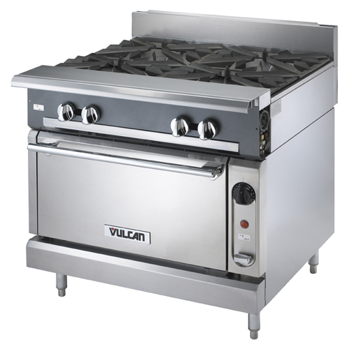Vulcan-Heavy-Duty-Gas-Range-Burners-Convection-Oven Product Image 200