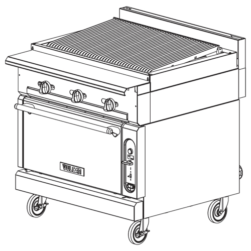 Ultimate Vulcan Heavy Duty Gas Range Charbroiler Standard Oven Product Photo