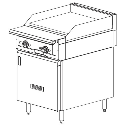 Vulcan-Heavy-Duty-Gas-Range-Stat-Griddle-Cabinet-Base Product Image 30