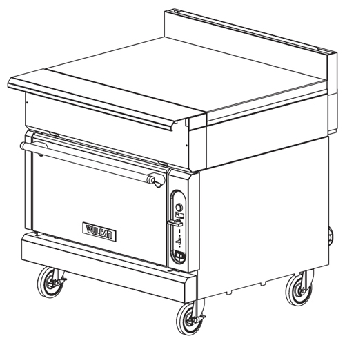 Vulcan-Heavy-Duty-Gas-Range-Spreader-Oven-Base-Convection Product Image 231