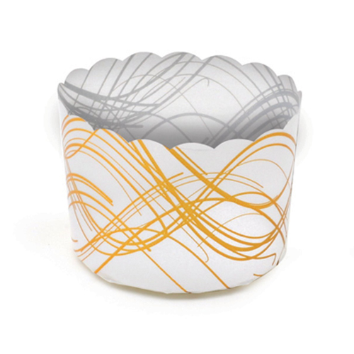 Welcome Home Brands Gold Wave Disposable Plastic Baking Cup