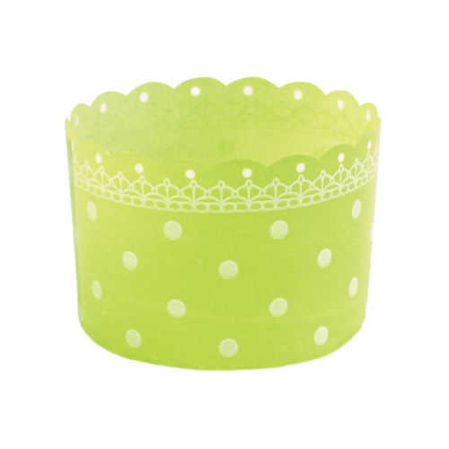 Welcome Home Brands Green Plastic Disposable Baking Cup