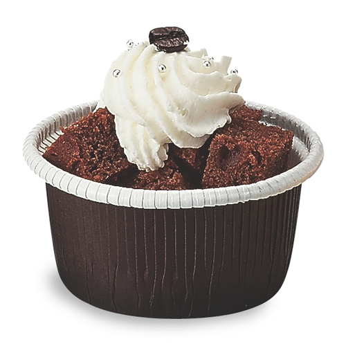 "Welcome Home Brands Brown Curled Disposbale Paper Baking Cup - 6.1 Oz Capacity, 2.8"" Dia. x 1.6"" High"