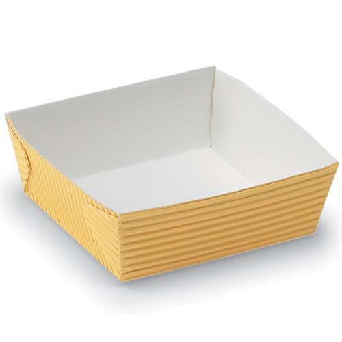 "Welcome Home Brands Dispoable Yellow Paper Baking Pan - 5.1 Oz Capacity, 2.4"" x 2.6"" x 1.4"" High"