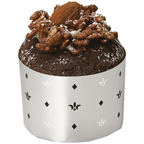Welcome Home Brands Silver Monarch Christmas Disposable Paper Baking Cup - 3.4 Oz