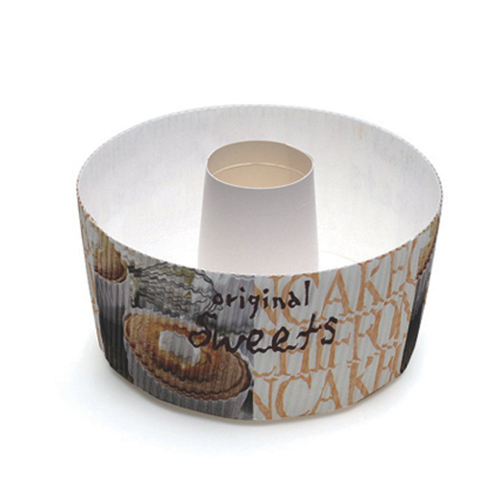 "Welcome Home Brands Disposable Photo Sweets Tube Paper Baking Pan - Large: 55.7 Oz Capacity, 5.9"" Dia. x 3.9"" High"