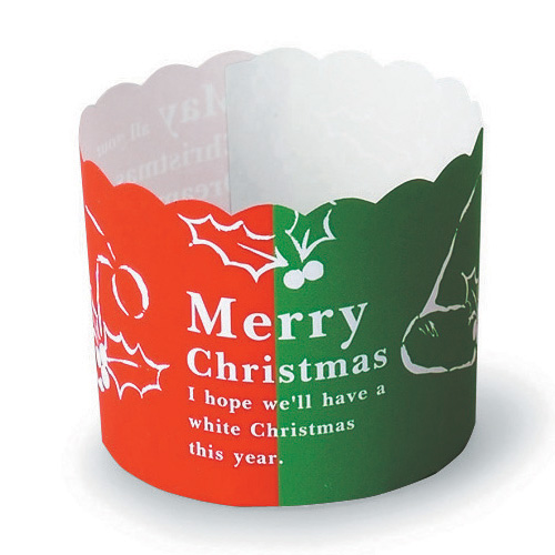 Welcome Home Brands Two-Tone Christmas Disposable Paper Baking Cup