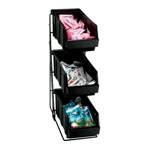 Dispense-Rite WR-COND-3 Wire Rack Condiment Organizer - 3 Compartment WR-COND-3