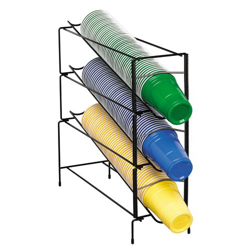 Dispense-Rite WR-CT-3 Vertical Wire Rack Cup Dispenser - 3 Section WR-CT-3