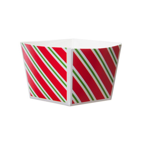Welcome Home Brands Diagonal Stripes Cube Disposable Paper Baking Cup