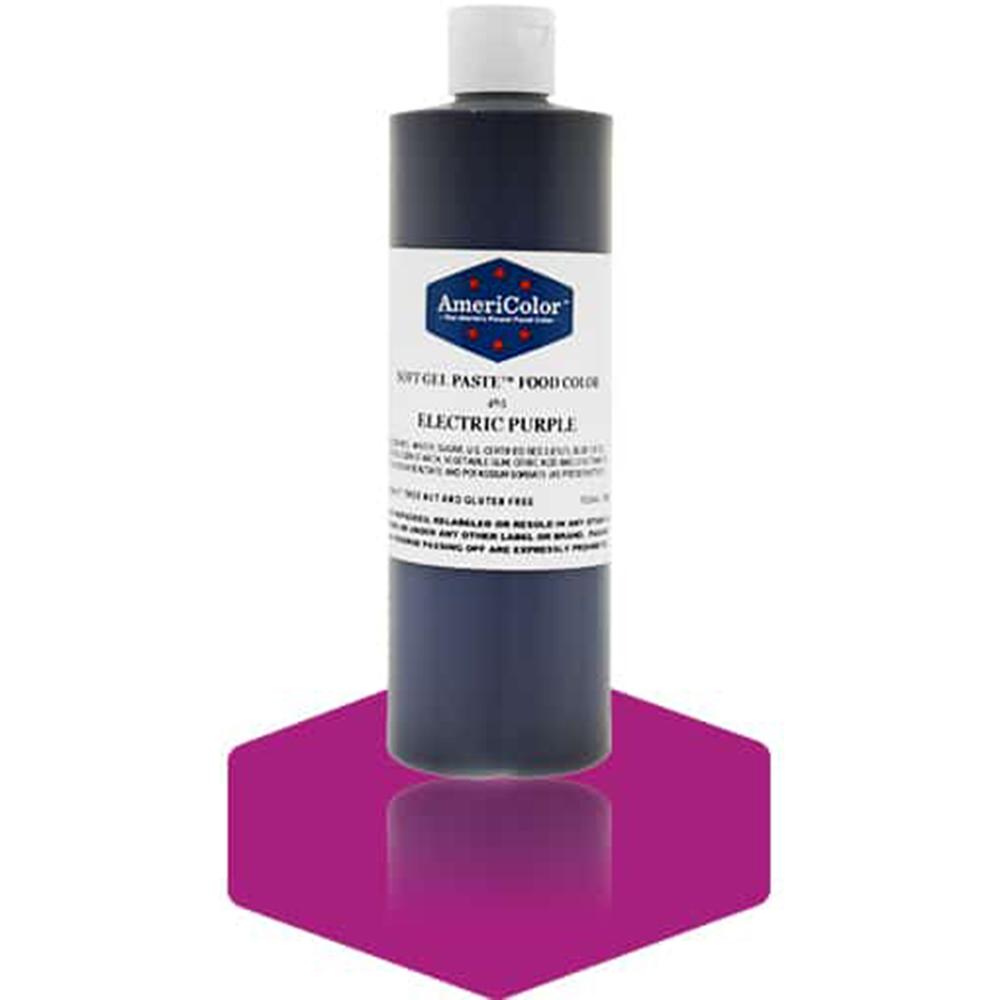 Americolor Electric Purple Soft Gel Paste Food Coloring, 13.5 oz.
