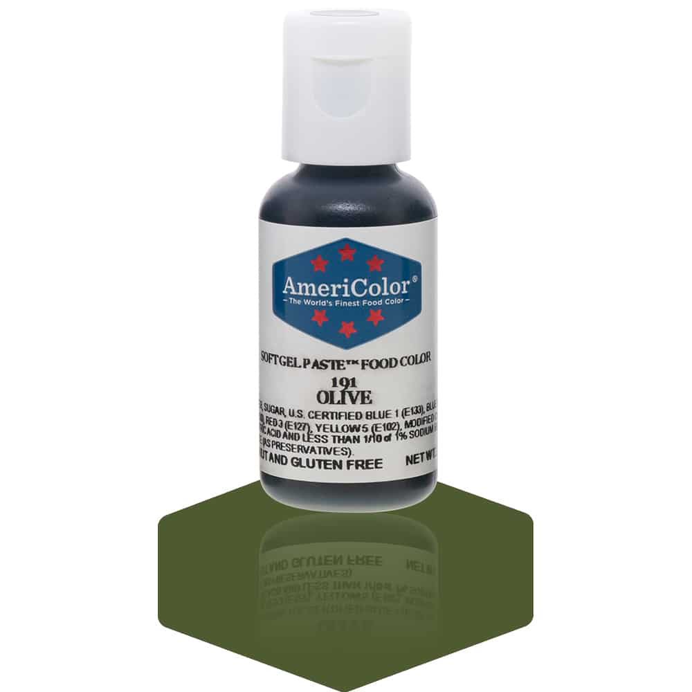 Americolor Olive Soft Gel Paste Food Coloring, .75 oz. Food Colors ...
