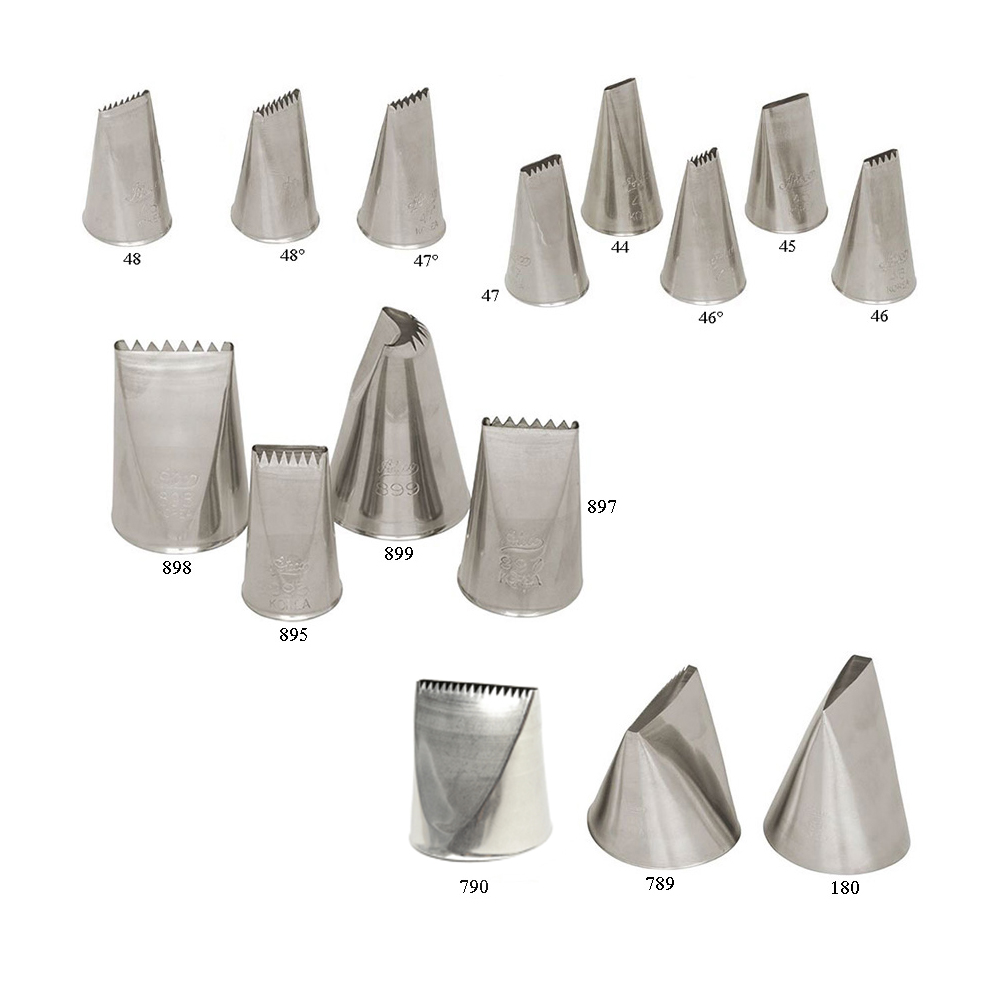 Stainless Steel Seamless Design Ateco Pastry Tip French Star Opening