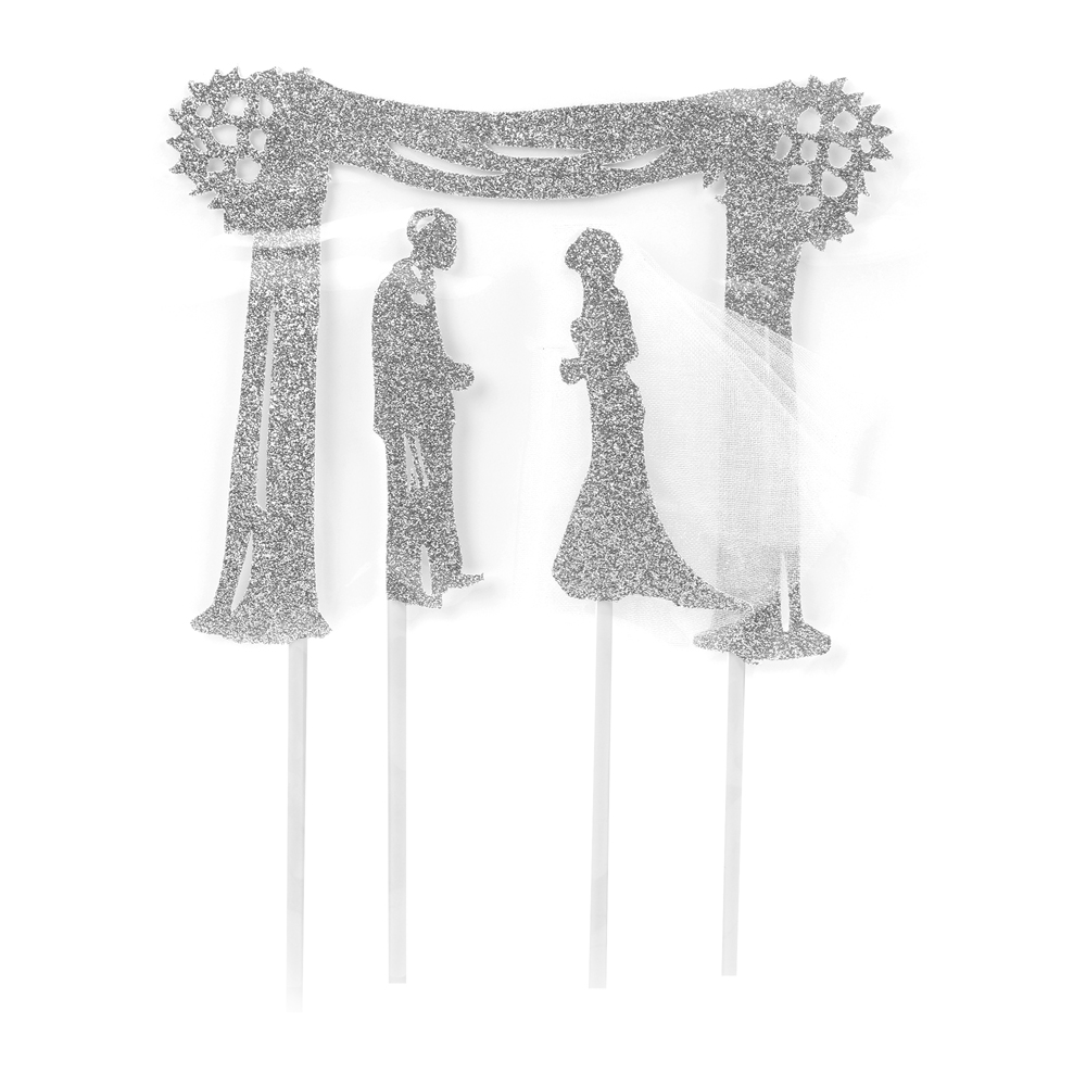 Awe Inspiring Au Bon Cake Silver Chuppah Jewish Wedding Cake Topper 6 Alphanode Cool Chair Designs And Ideas Alphanodeonline