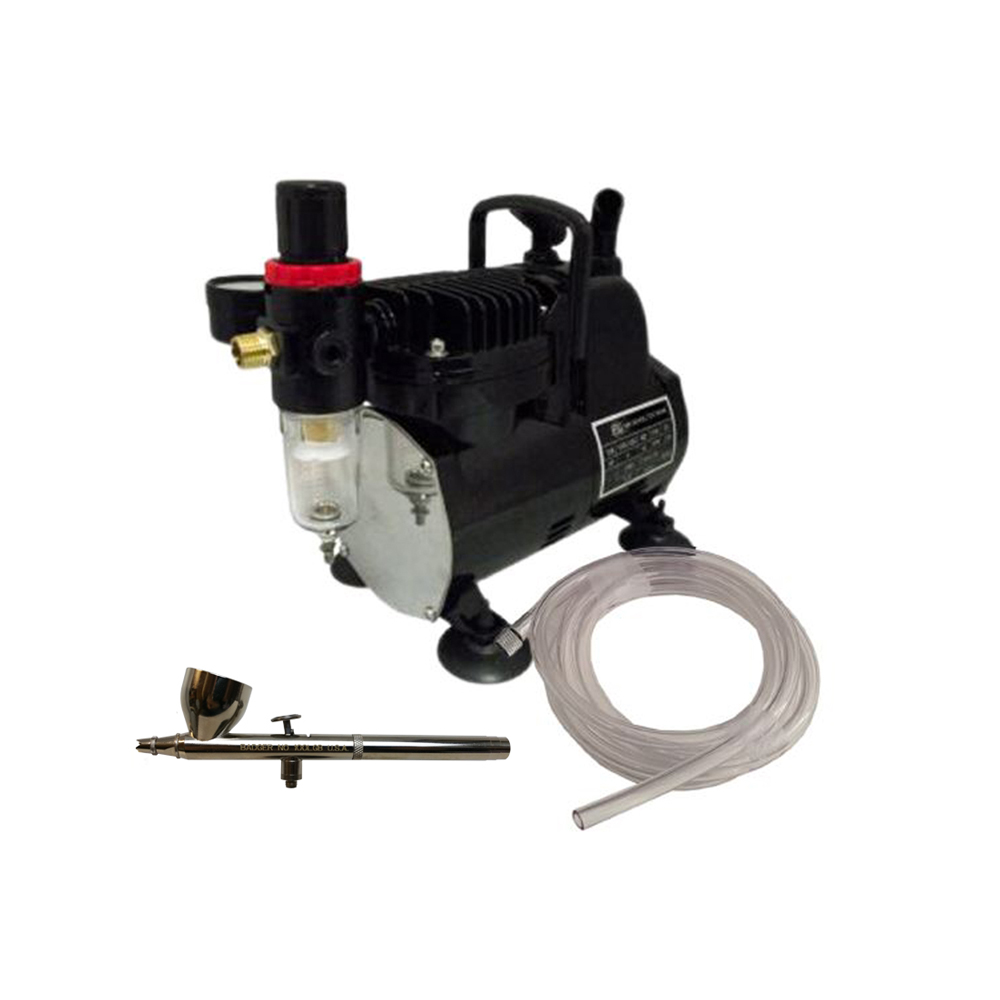Valuable Badger Air Brush Co Bake Air Tc p Compressor lgb Airbrush Ft Clear Hose Product Photo