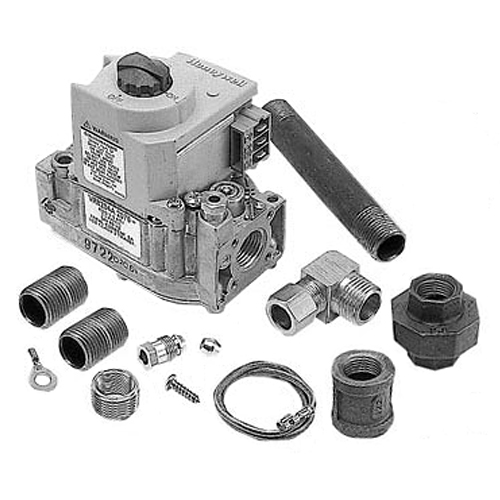 """Blodgett OEM # 20288, Type VR8204A Gas Valve Kit; Natural Gas; 1/2"""" Gas In / Out; 3/16"""" Pilot Out; With Hardware 54-1035"""