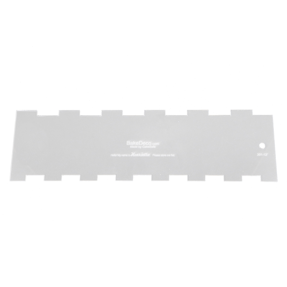 CakeSafe Henrietta 8-Inch Acrylic Cake Comb