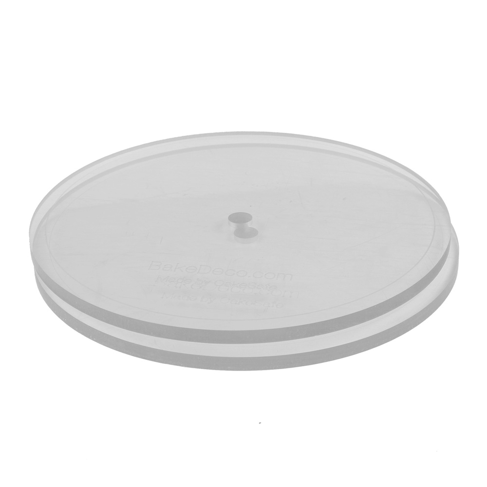 Cakesafe Set Of 2 Round Acrylic Discs 8 5 With Center