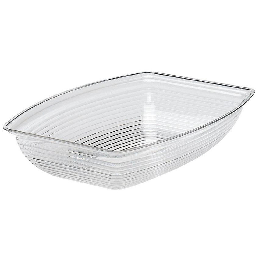 "Cambro Camwear Rectangular Ribbed Bowl 9"" X 12-1/8"" Clear RSB912CW135"