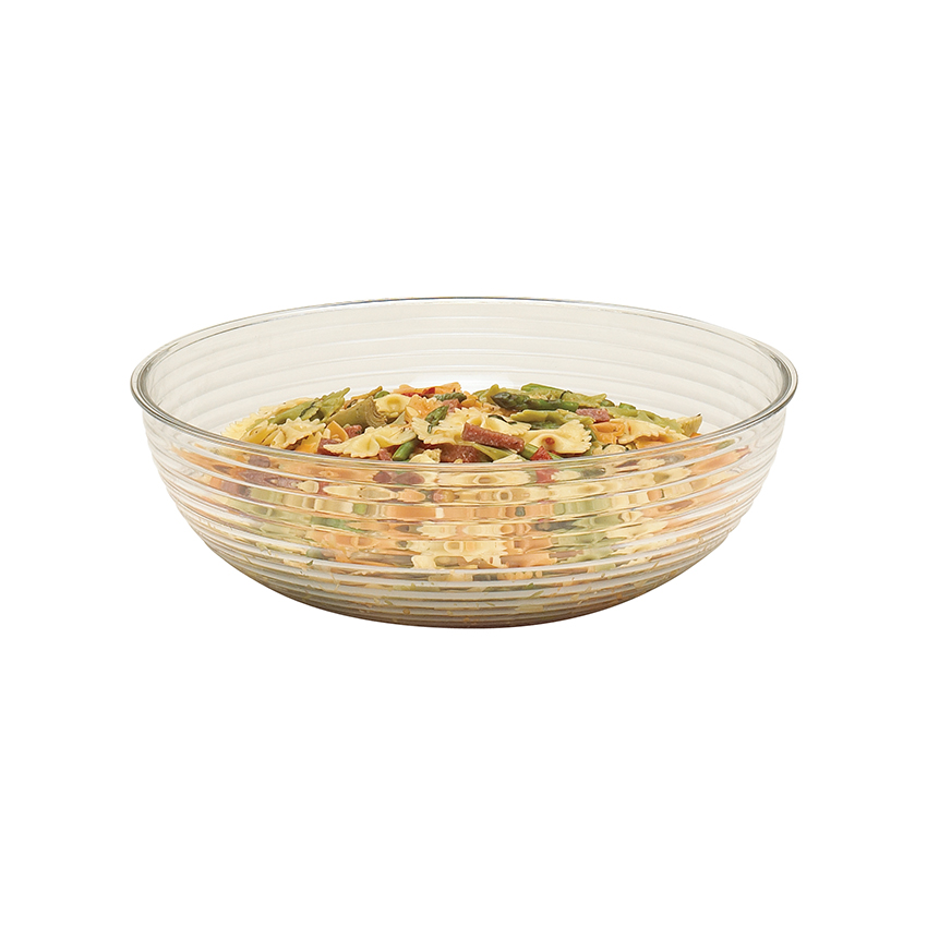 "Cambro Camwear Round Ribbed Bowl 10"" Dia. - Quantity Limited - Clear RSB10CW135"