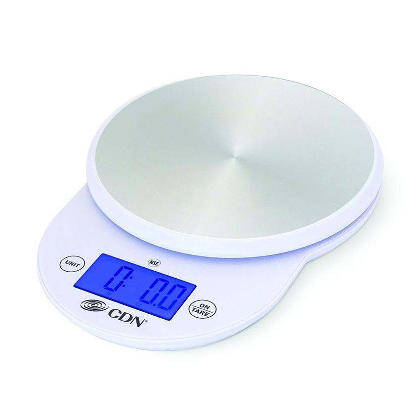 CDN Digital Scale, 11 lb/ 5 kg - White