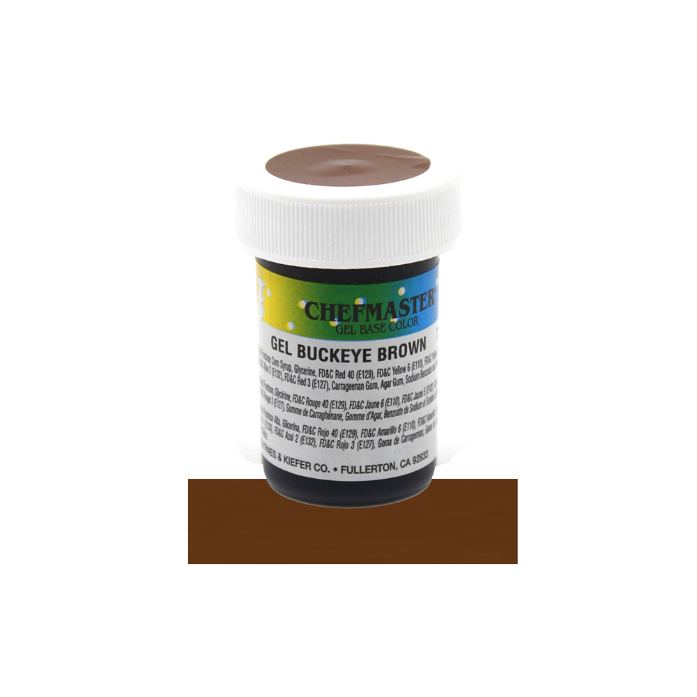 Chefmaster Buckeye Brown Concentrated Gel Food Color, 1 Oz.