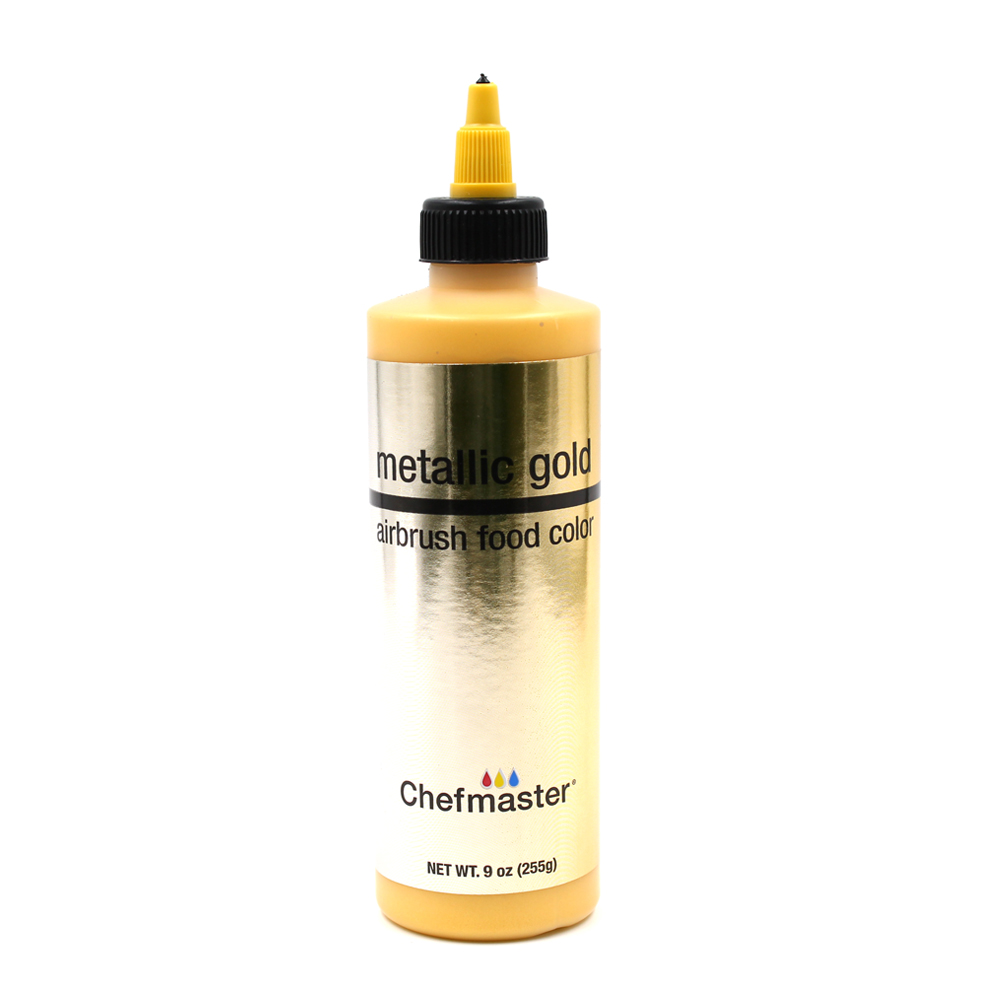 Chefmaster Metallic Gold Airbrush Food Color, 9 oz.