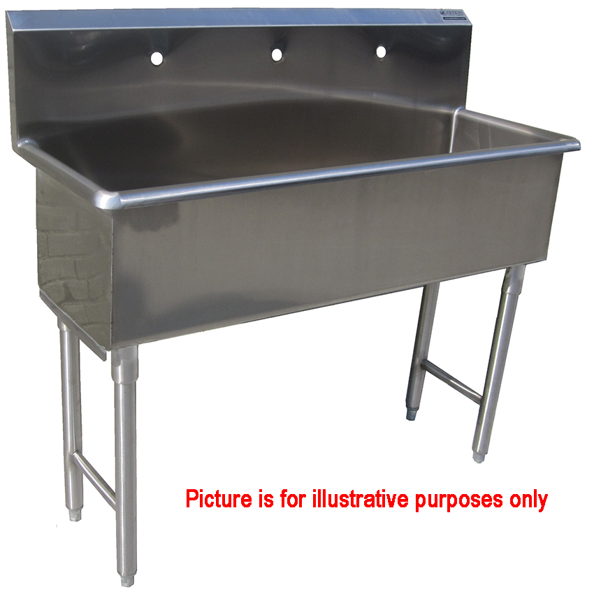 Custom Made Commercial Hand Sink Stainless Steel 3 Feet Wide