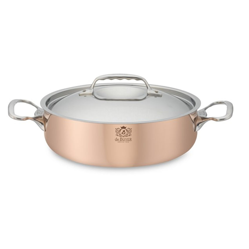 Debuyer-Copper-Saute-Pan-Lid-Quart Product Image 1714