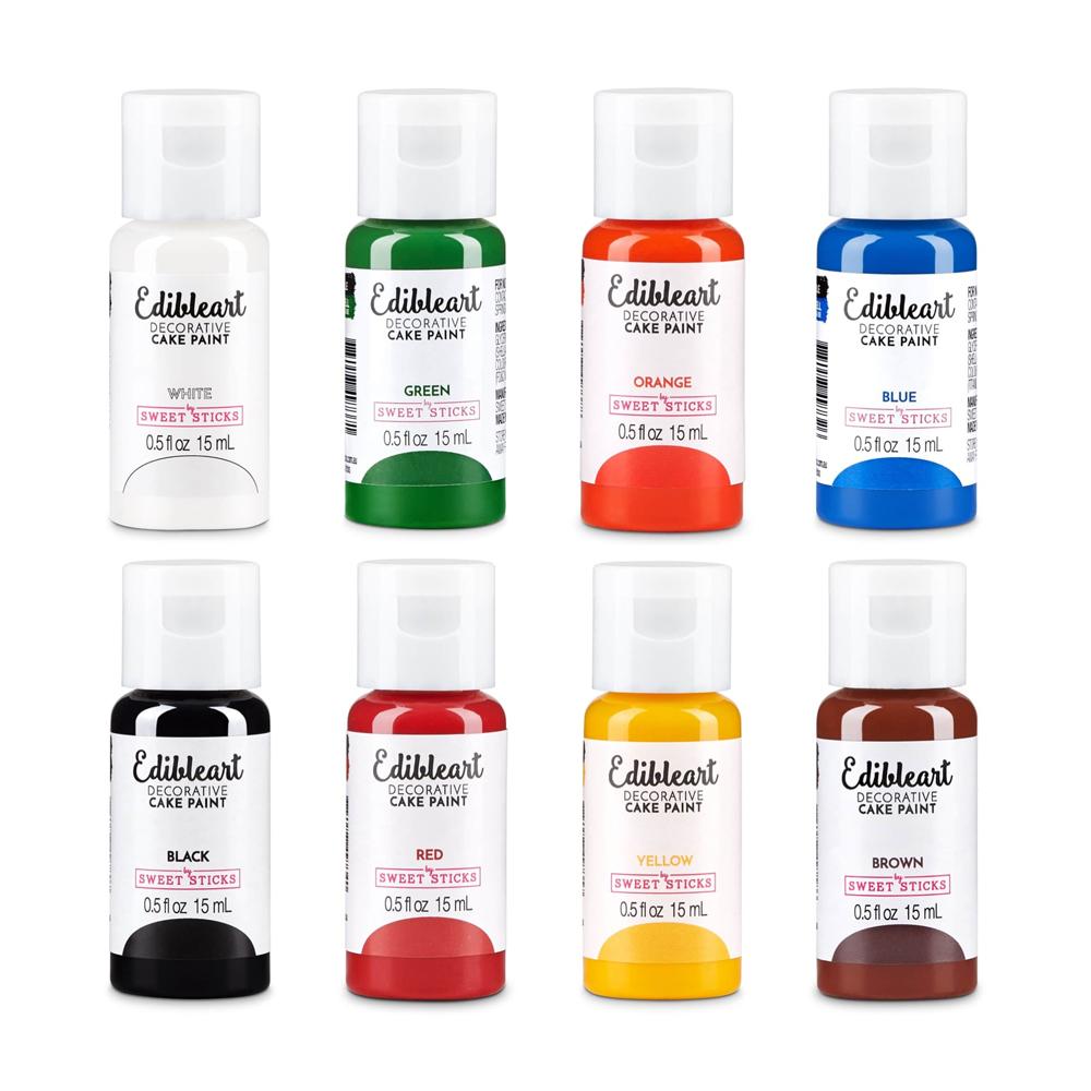 Edible Art Primary Paint Set, 8 Colors