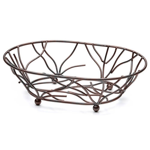 Elite-Global-Solutions-Wb-Antique-Copper-Oval-Metal-Wire-Basket Product Image 3417