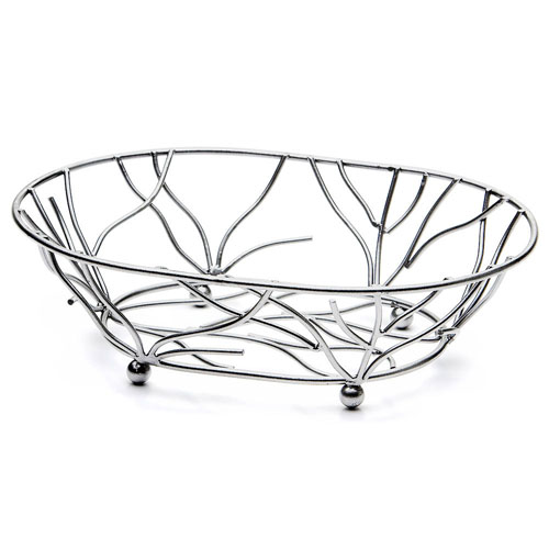 Elite-Global-Solutions-Wb-Chrome-Oval-Metal-Wire-Basket Product Image 3417