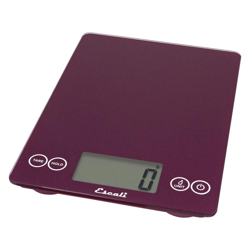 Escali Purple Night Digital Scale Arti 15 Pound / 7 Kilogram