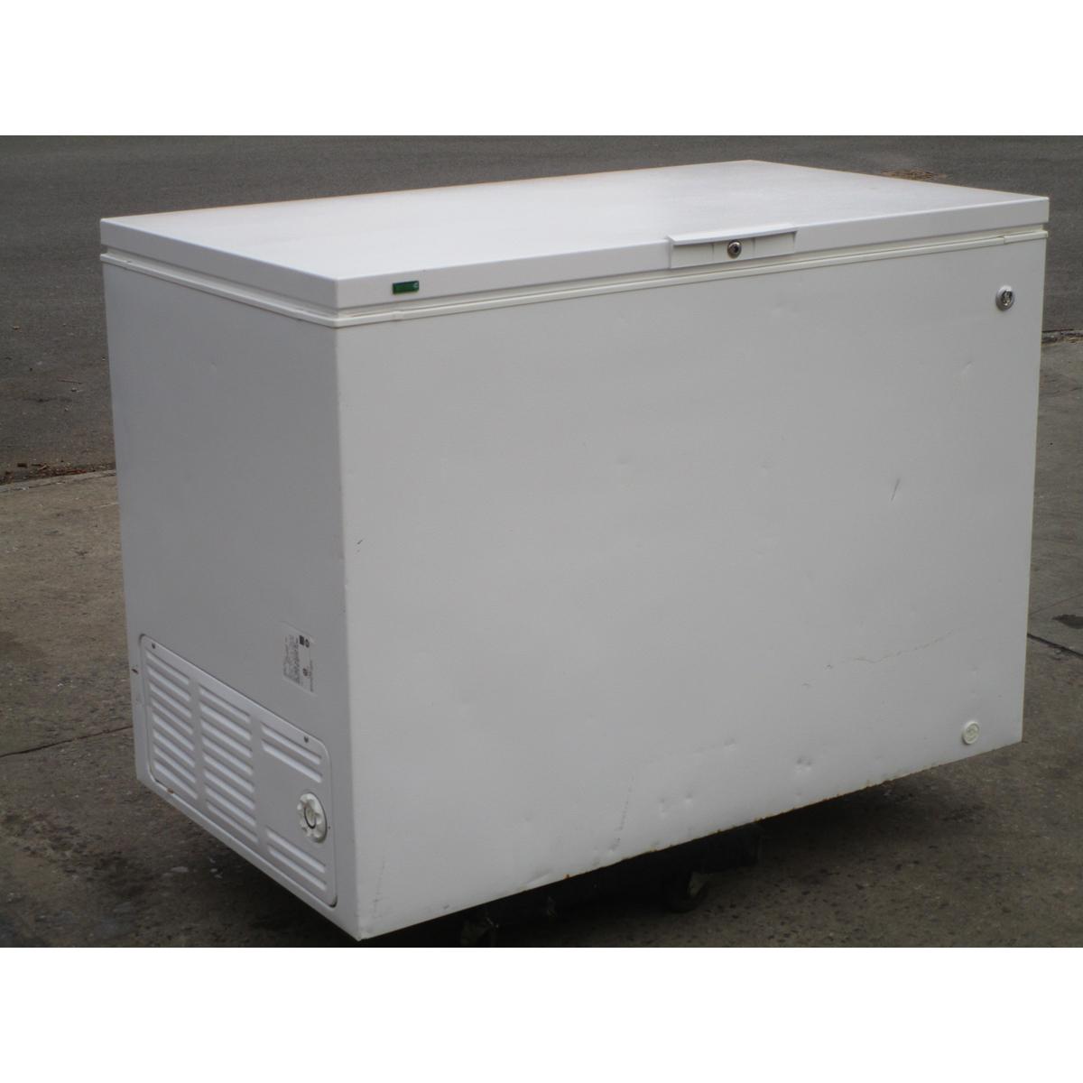 Ge Fcm15pubww Chest Freezer 14 8 Cu  Ft   Used Great