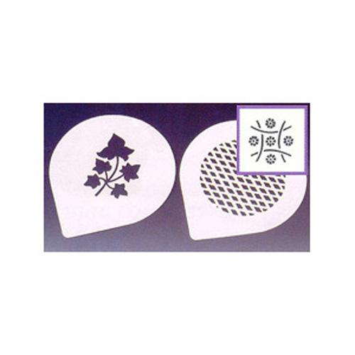Martellato Flower Grid Plastic Decorating Cake Stencil