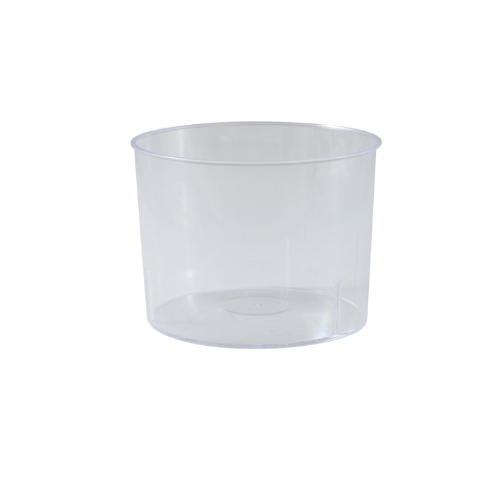 "Martellato PMOTO005 Cylindrical Dessert Cups Clear Plastic 3"" Dia x 2.2"" High, Capacity 210ml (7.1 Oz) PMOTO005"