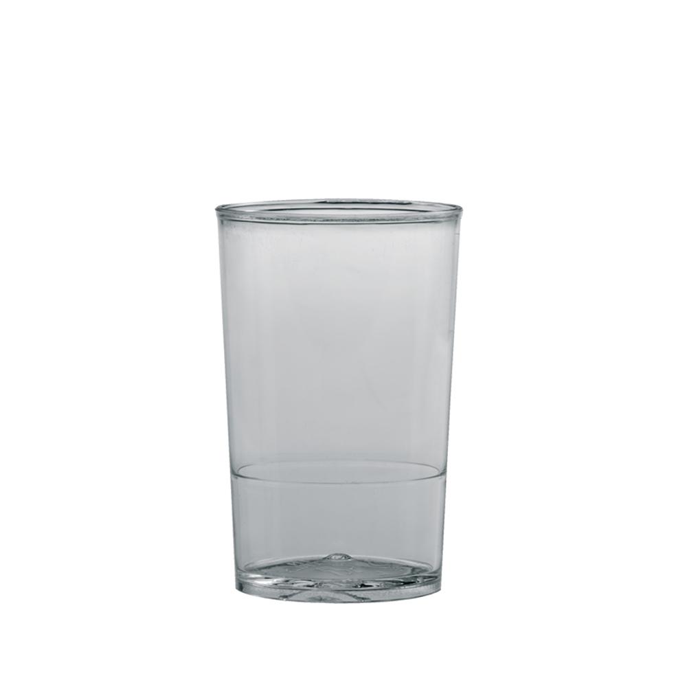 "Martellato Round Dessert Cups Clear Plastic, 1.7"" Dia x 2.6"" H Capacity 50ml (1.7 oz) PMOTO001"