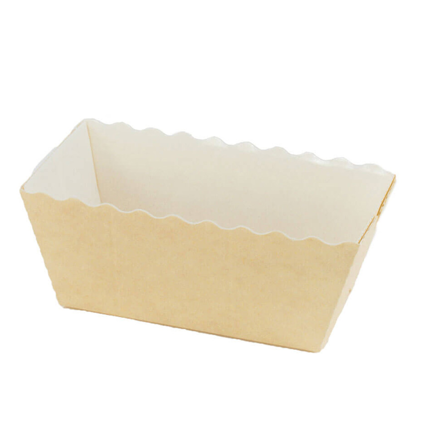 Novacart Beige White Easybake Paper Baking Mini Loaf Pan