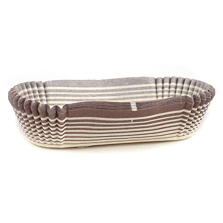 "Novacart Oval Paper Cup, Brown-Patterned Outside - 5-1/4"" X 1-1/4"" Base, 1-1/16"" High V9I23008"