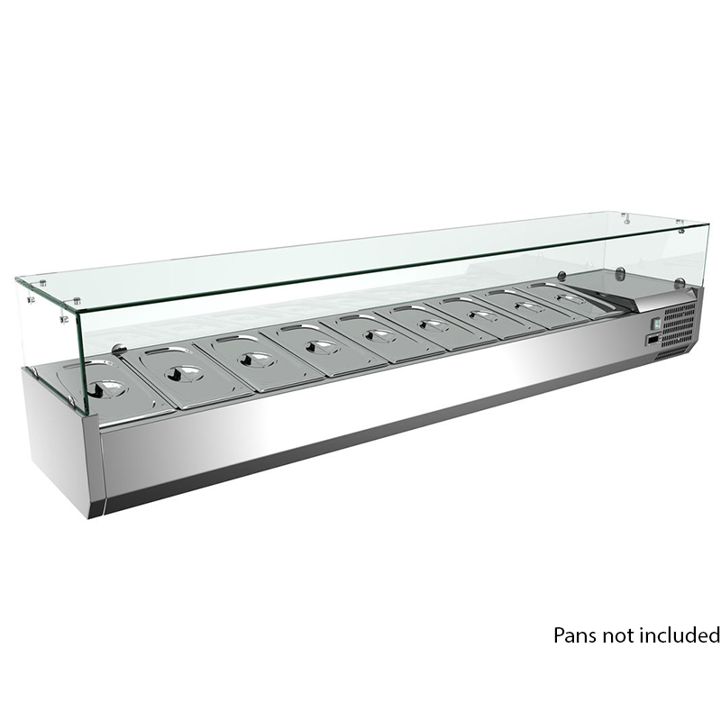 Omcan-Refrigerated-Topping-Rail-Pan-Capacity Product Image 1495