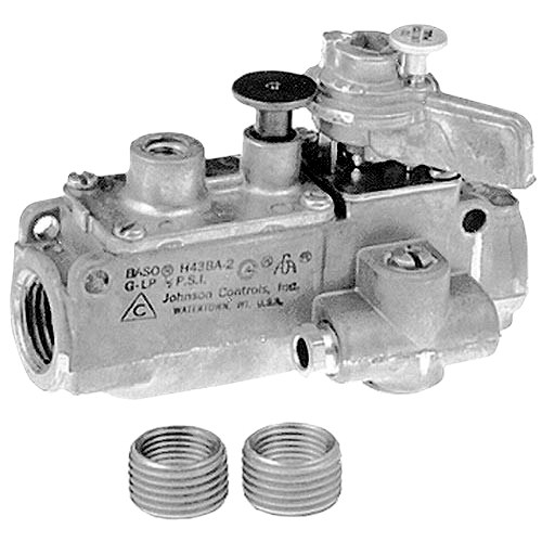 "Pilot Safety Valve; Natural Gas / Liquid Propane; 1/2"" Gas In / Out; 1/4"" Pilot Out 54-1023"