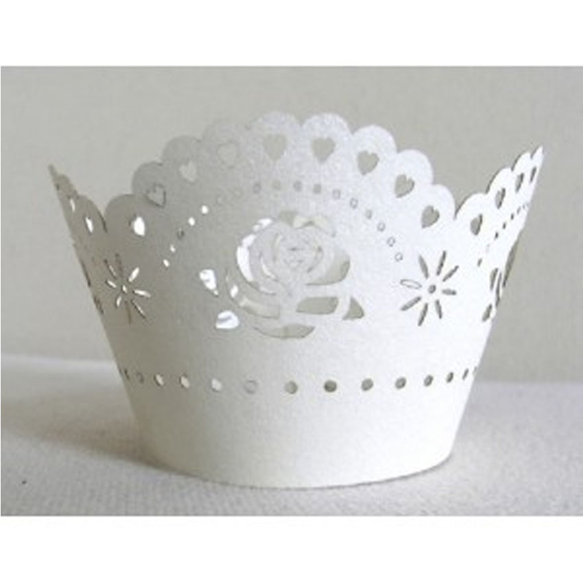 PME White Rose Cupcake Wrapper CW920