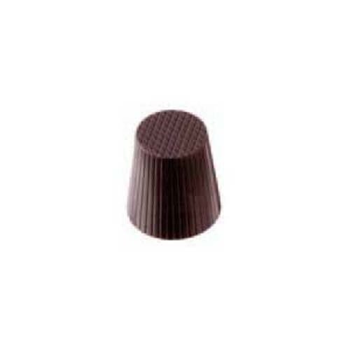 Polycarbonate Chocolate Mold Fluted Cup 30mm Diameter x 35mm High, 35 Cavities