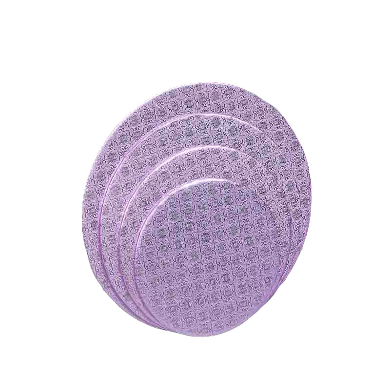 """Round Lilac Cake Drum Board 1/4"""" Thick - 10 Inch"""