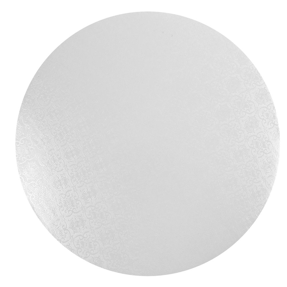 "Round White Cake Board, 1/4"" Thick - 10 inch"