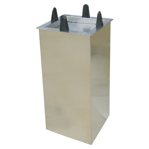 """Lakeside Mobile Unheated Shielded Dish Dispenser - Square - Plate Size: 8-1/2"""" to 9-1/4"""" S5009"""